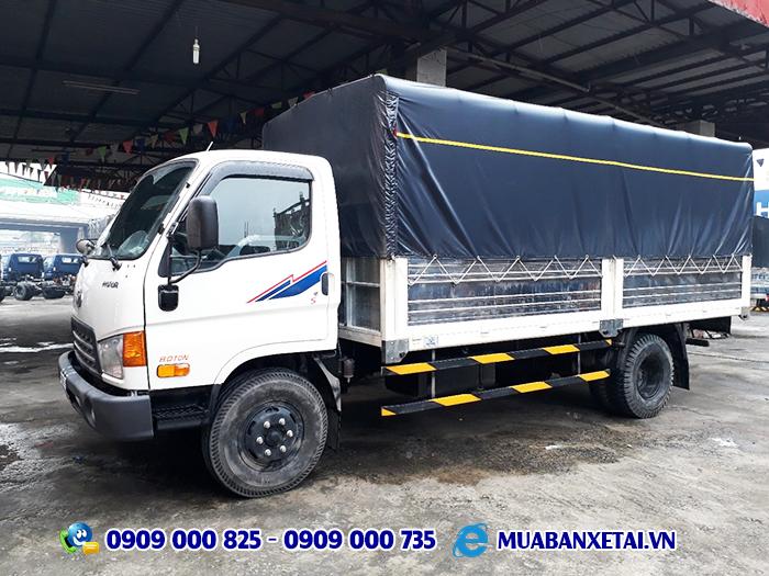 Ngoại thất xe tải hyundai HD120SL