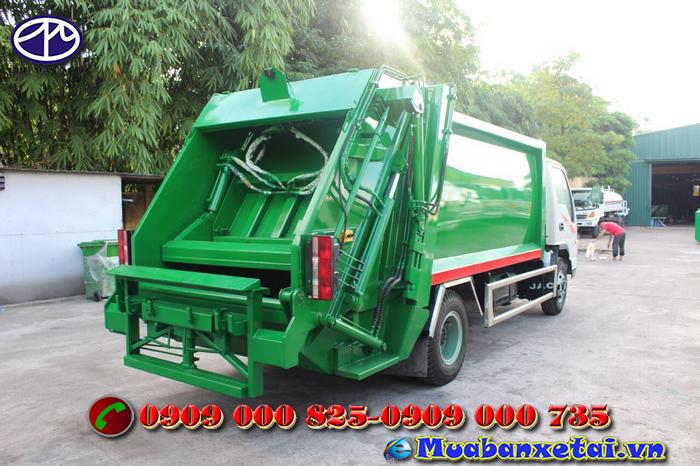 Xe tải ép rác 9 khối Jac