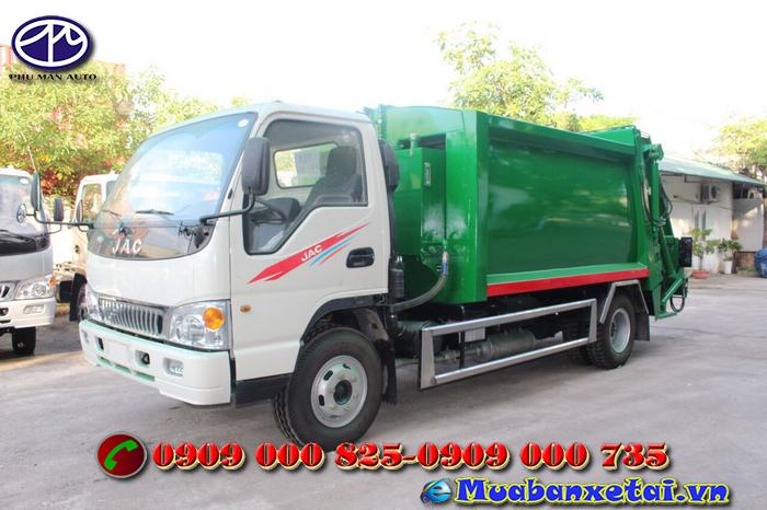 Xe ép rác 9 khối Jac có tải trọng lưu hành 5 tấn