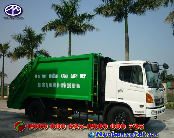 Toàn cảnh xe ép rác Hino 14 khối FG8JJSB