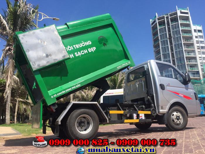 Giới thiệu xe ép rác Jac 3.5 khối X150