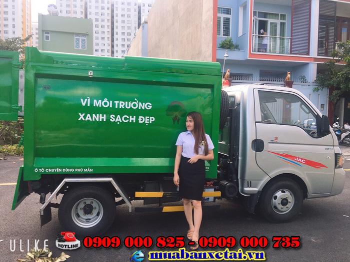 Nội thất xe ép rác jac 3.5 khối