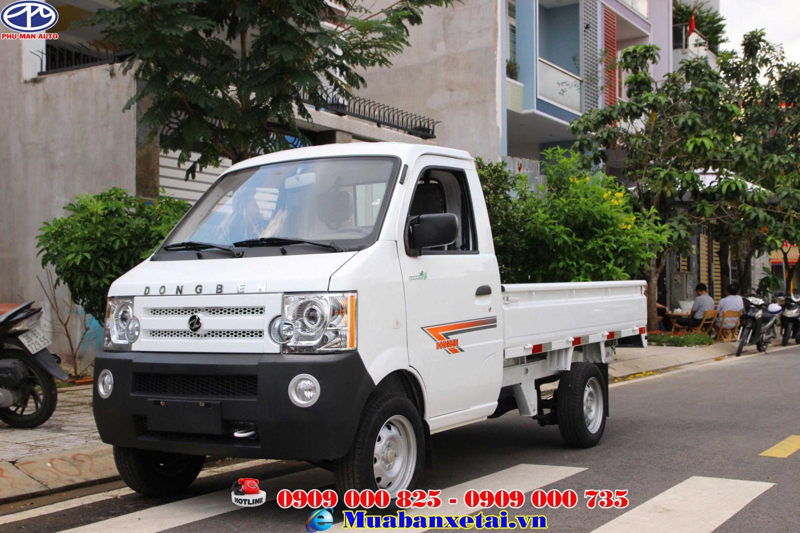 Xe tải Dongben 870kg thùng lửng