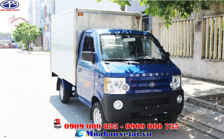 Xe Dongben 770kg thùng kín