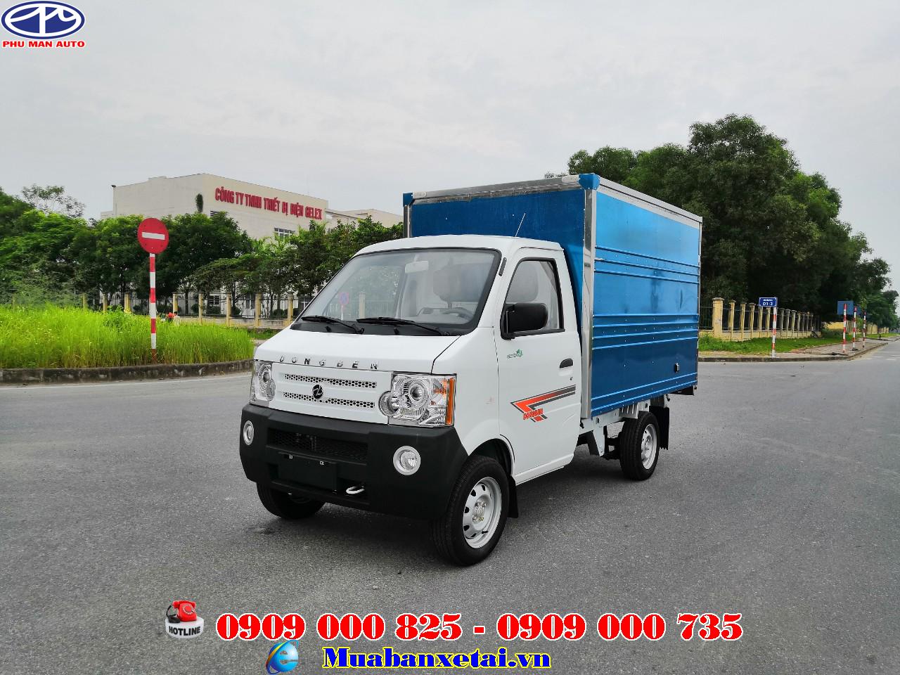 Xe tải nhỏ Dongben 770kg thùng kín