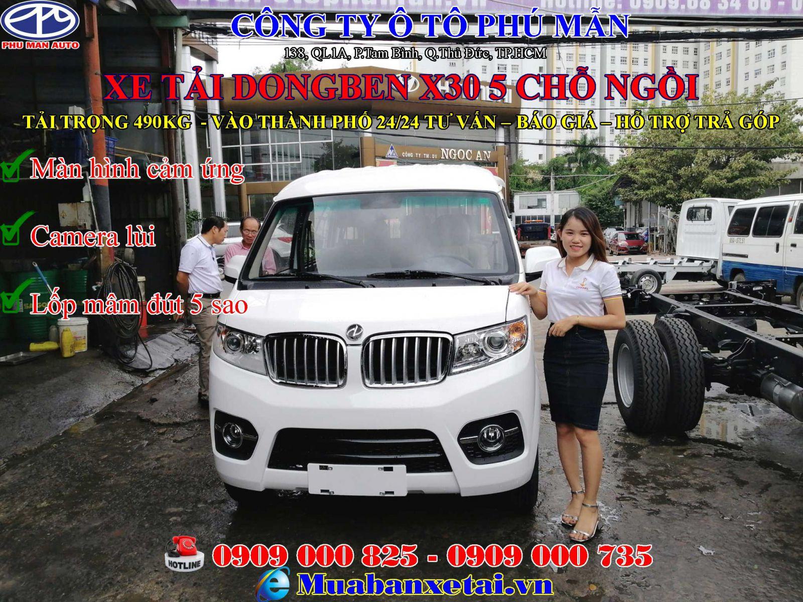 Xe tải Dongben X30 490kg mới 2019