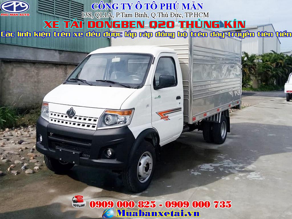 xe tải dongben q20 thùng kín