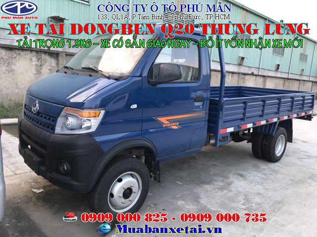 Xe tải Dongben Q20 thùng lửng