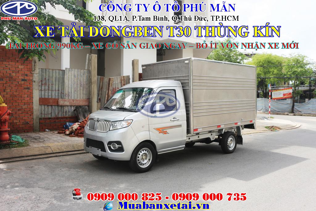 Xe tải Dongben 990kg