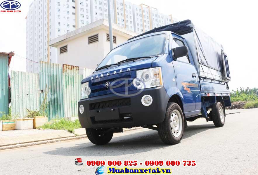 Xe tải Dongben 810kg - thùng mui bạt thiết kế hiện đại, nhỏ gọn, bắt mắt