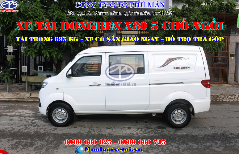 Xe tải Dongben X30 5 chỗ ngồi