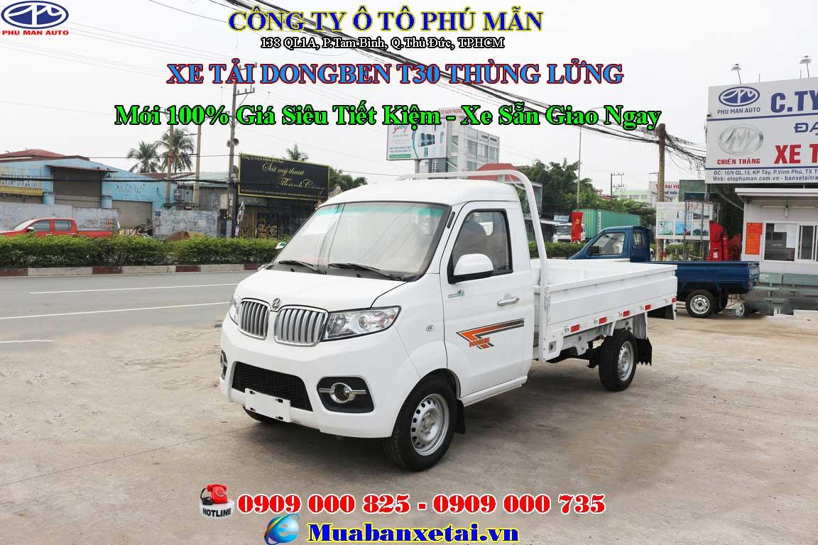 Xe tải Dongben T30 thùng lửng