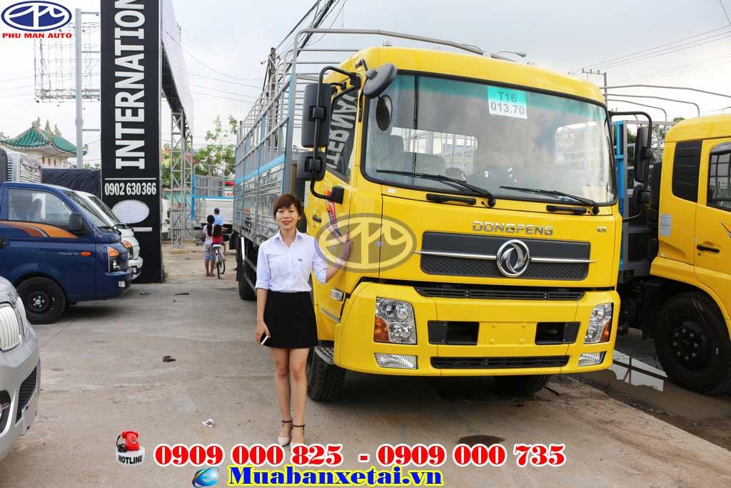 Xe tải Dongfeng Hoàng Huy B170 9.35 tấn Thùng mui bạt