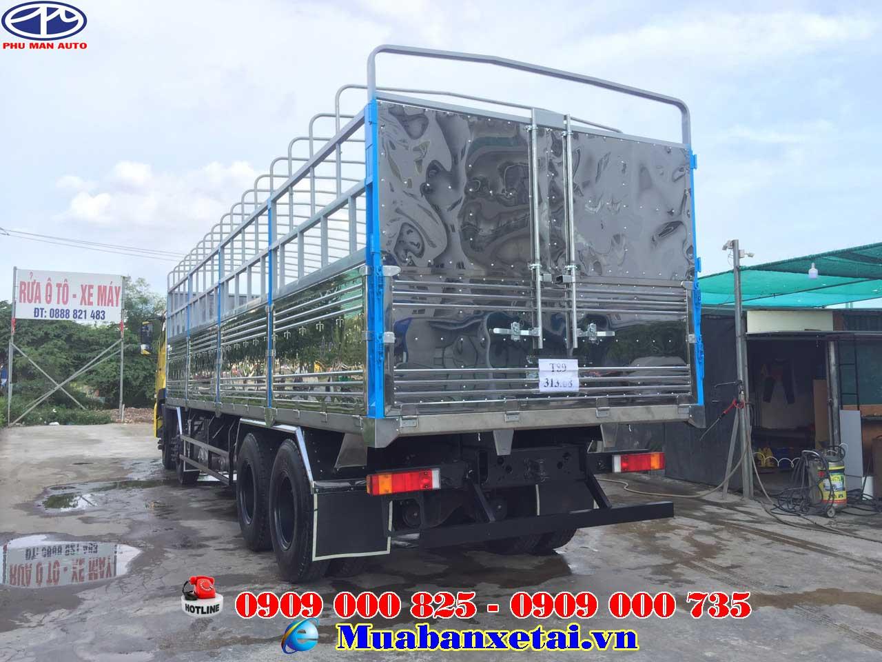 Xe tải Dongfeng 315 – 4 chân 17.9 tấn thùng bạt