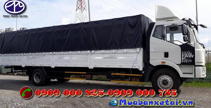 Xe tải Faw 8.5 tấn 2 cầu, cầu dầu, thùng mui bạt