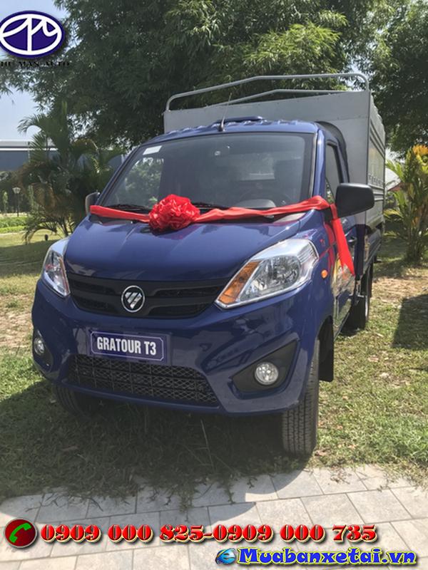 Xe tải Foton 995kg thùng mui bạt  thiết kế nhỏ gọn, khỏe khoắn