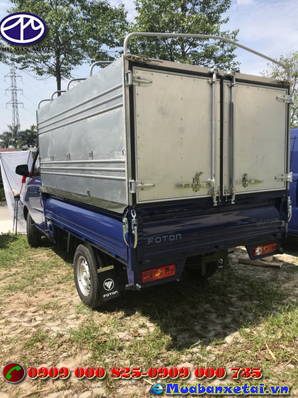 Xe tải Foton 995kg thùng kín ngoại thất thiết kế đơn giản