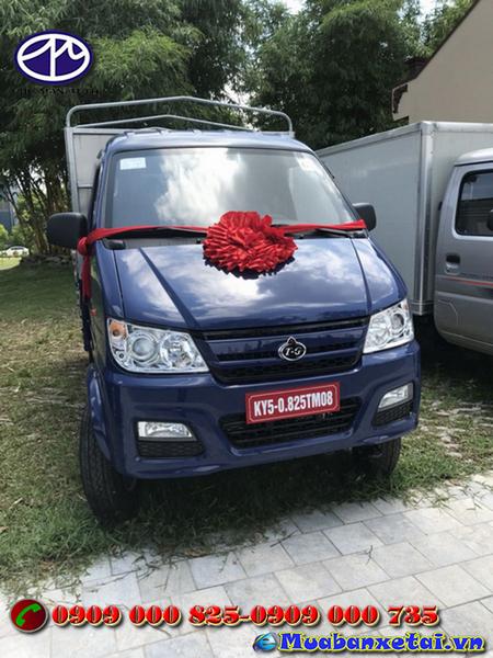 Xe tải Trường Giang KY5 với 2 màu xanh và trắng