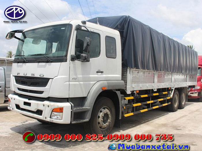 Toàn cảnh xe tải Fuso 3 chân 15 tấn