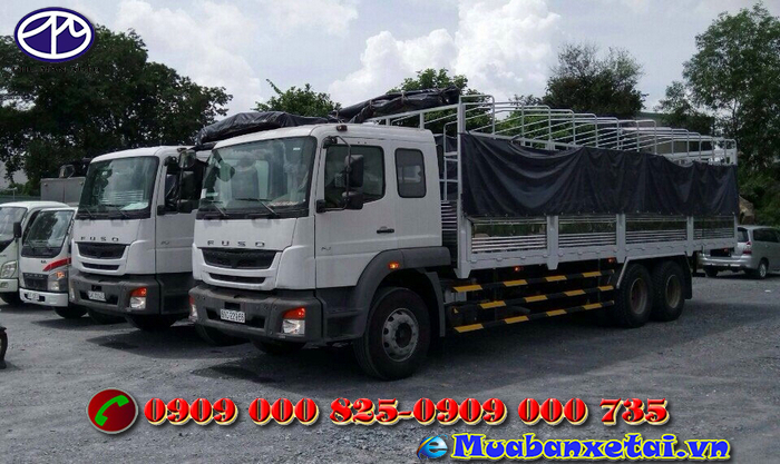 Bên hông xe tải Fuso 3 chân 15 tấn