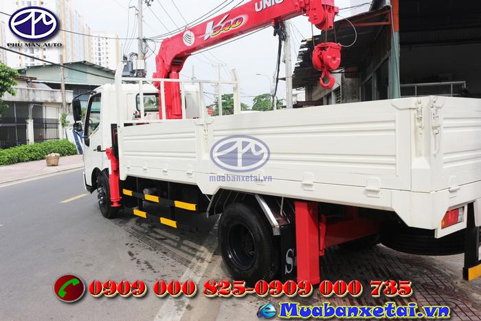 Động cơ xe tải Hino FC9JLSW 6.4 tấn gắn cẩu UNIC URV340 3 tấn