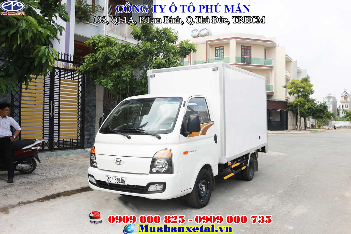 Xe tải hyundai H150 Porter 1.5 tấn - Thùng kín Composite