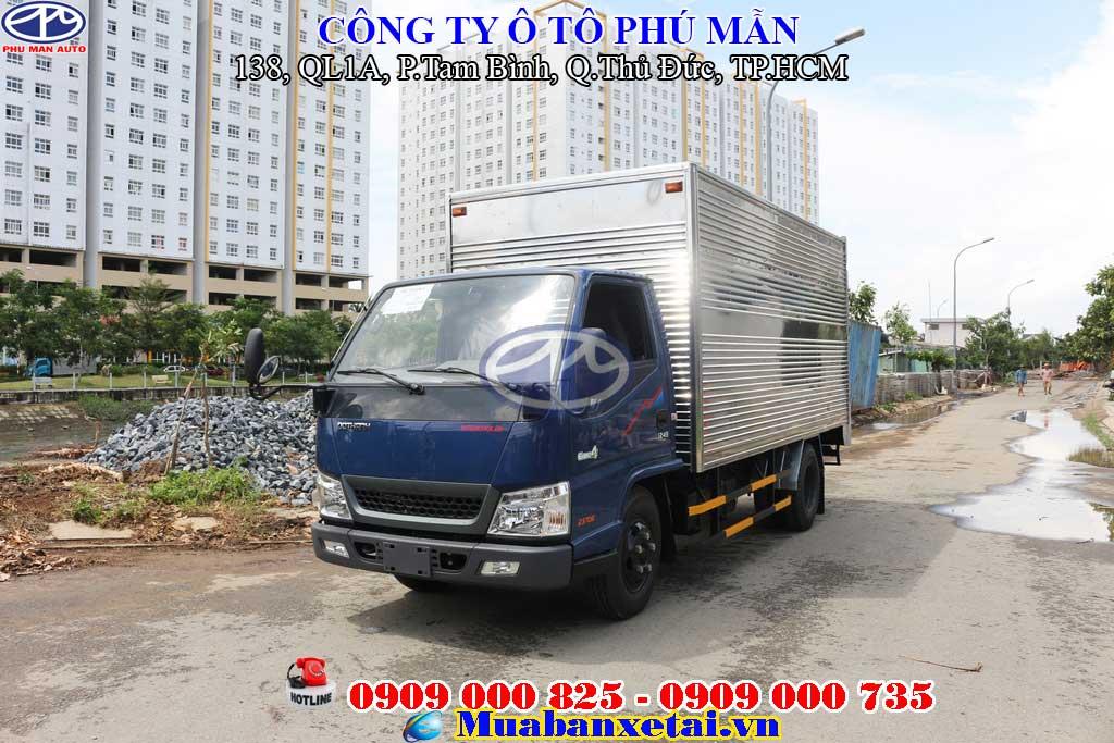 Xe tải iz49 2.5 tấn thùng kín thiết kế sang trọng, mạnh mẽ