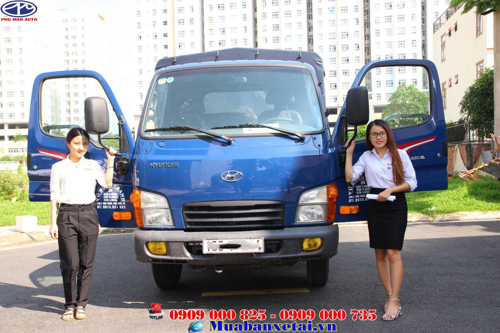 Xe tải Hyndai N250SL thùng dài 4m4