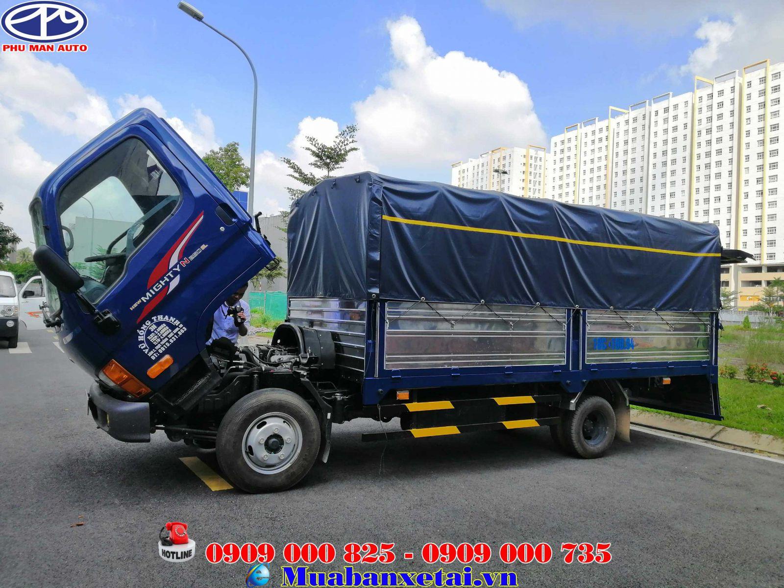 Xe tải Hyundai thùng dài 4m4