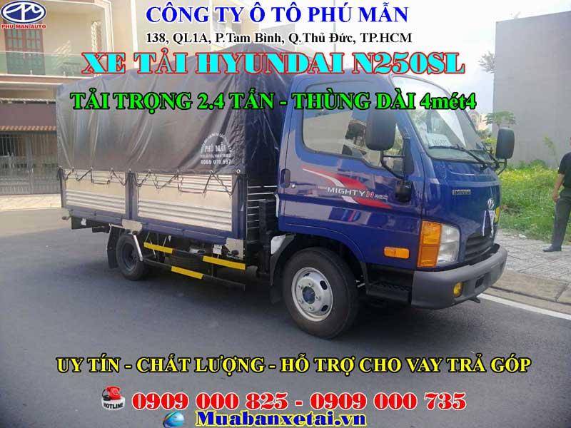 Xe tải Hyundai N250SL thùng bạt