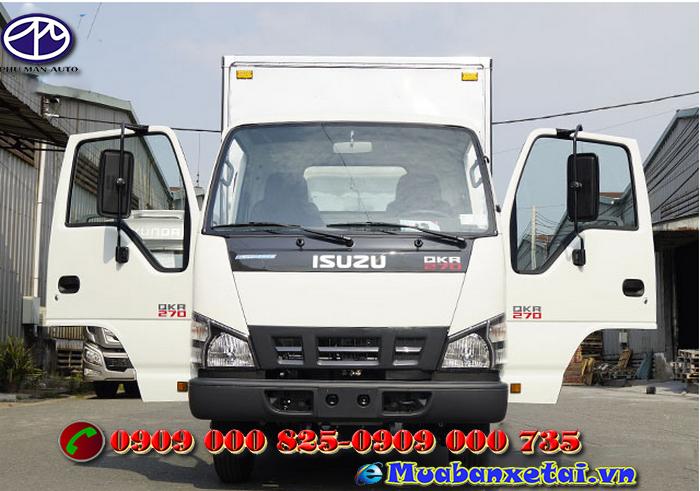Đầu xe tải Isuzu 1.5 tấn thùng kín QKR77FE4