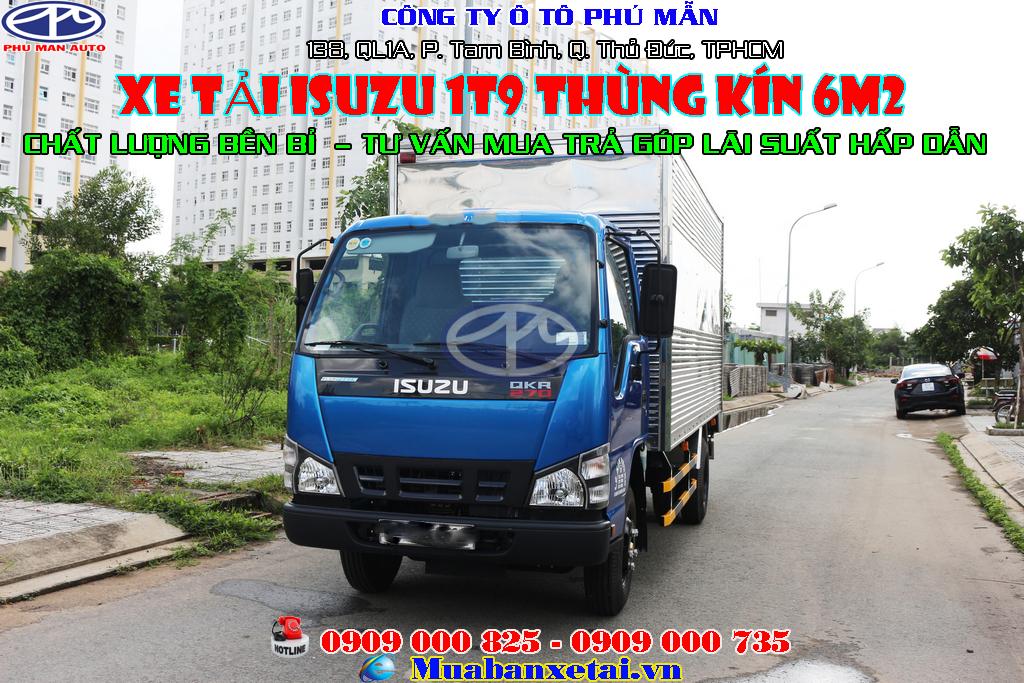 Xe tải Isuzu 1.9 tấn thùng kín QKR270