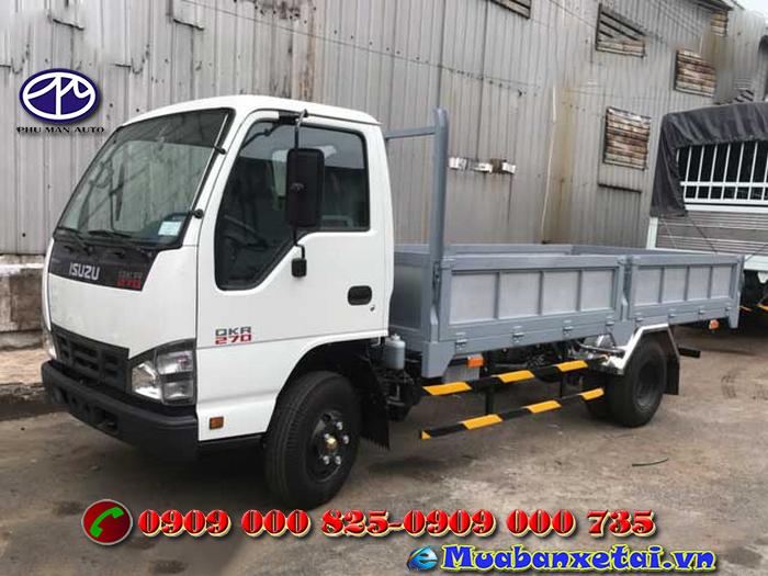Xe tải Isuzu 3 tấn thùng lửng QKR77HE4