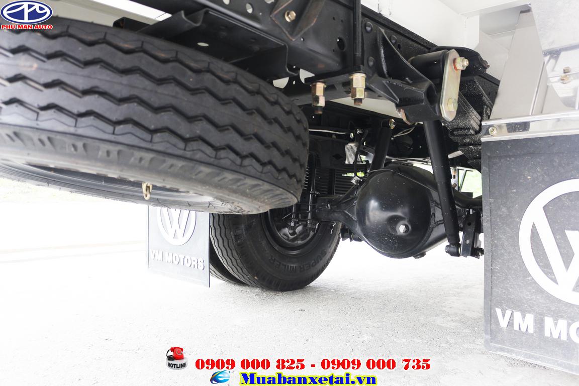 xe tải Isuzu 3.5 tấn còn trang bị TURBO tăng áp công xuất lớn lên đến 130 mã lực