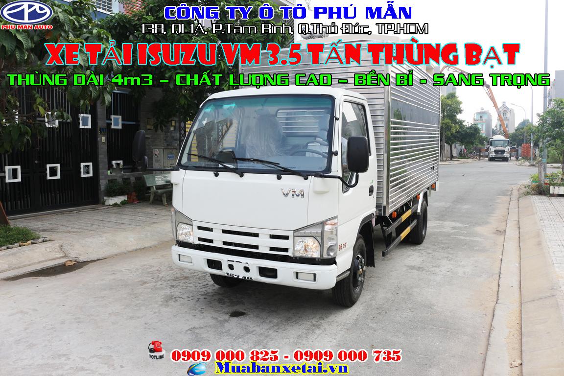 xe tải isuzu 3t5 thùng kín