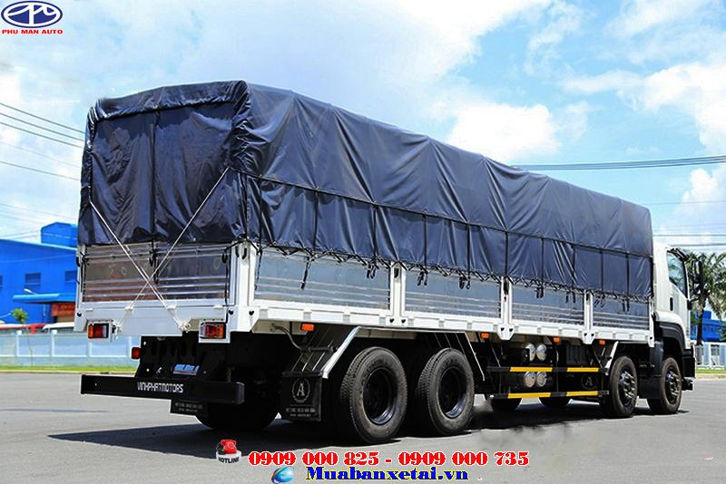 Ngoại thất xe tải Isuzu Vĩnh Phát 4 chân 18 tấn