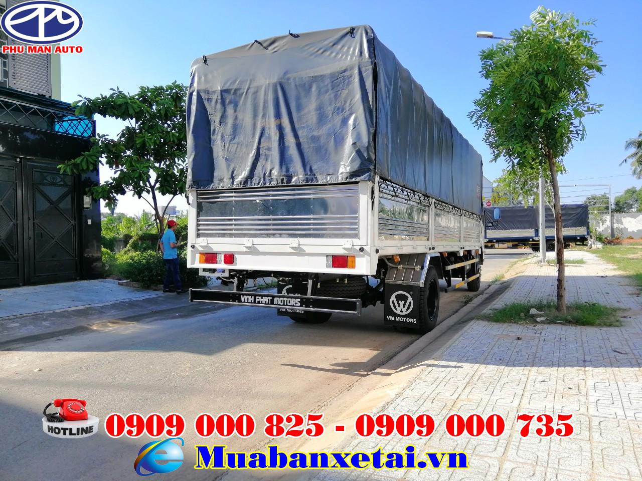 Thùng xe tải Isuzu 8.2 tấn thùng bạt