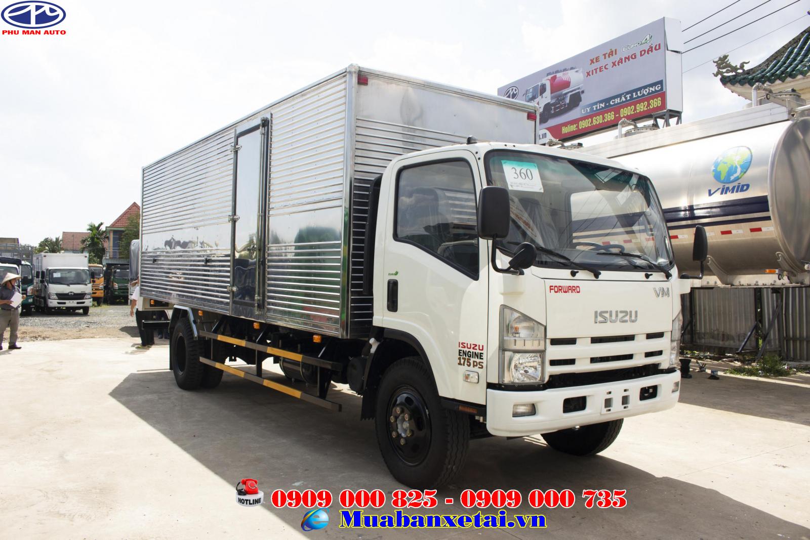 Xe tải Isuzu 8T2 thùng kín