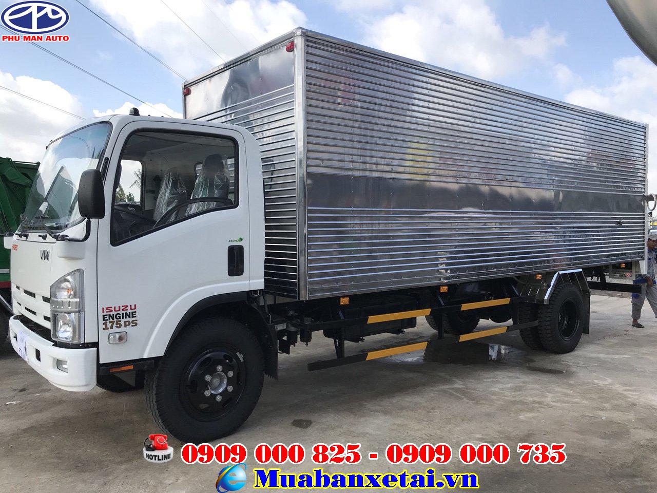 Xe tải Isuzu vĩnh Phát 8T2 thùng kín
