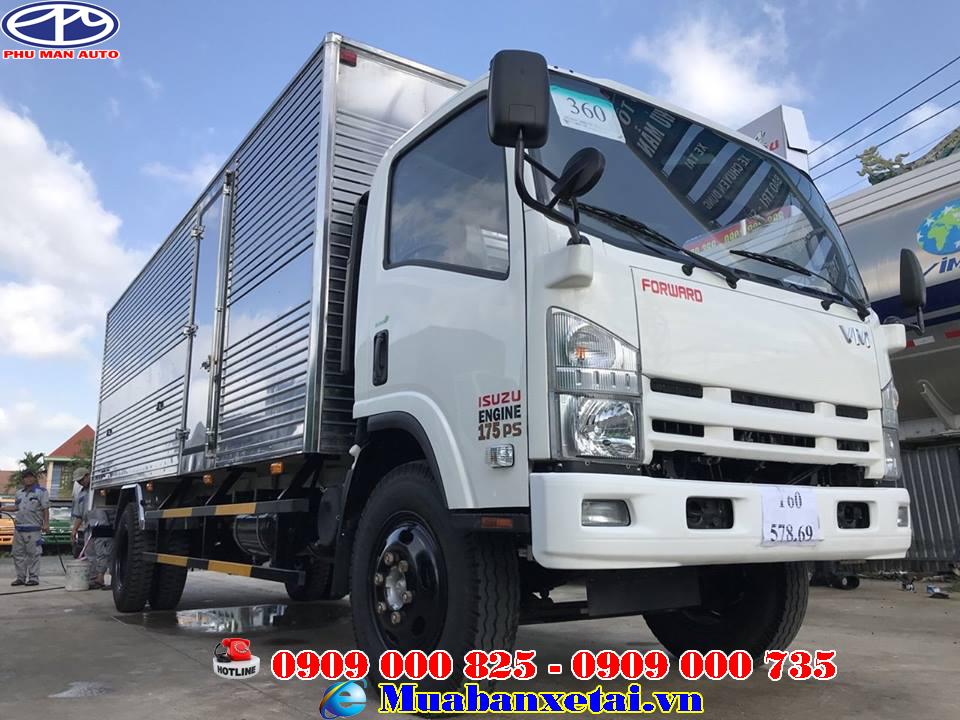 Giới thiệu tổng quát xe tải Isuzu 8t2 thùng kín