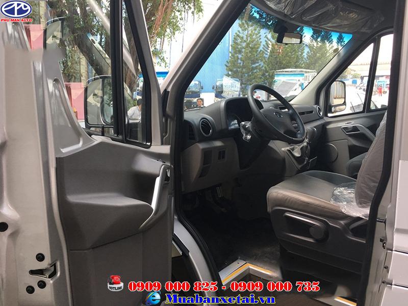 Nội thất xe tải Jac 16 chỗ ngồi