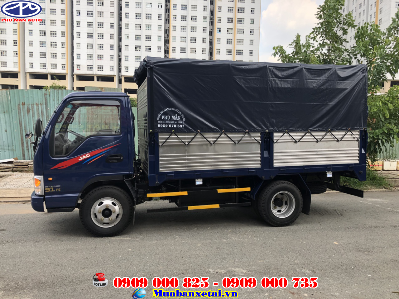 xe tải jac 2.4 tấn thùng bạt