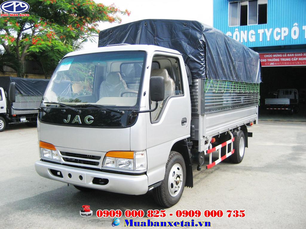 Xe tải jac 6.4 tấn thùng bạt với cabin đôi thiết kế ngôn ngữ khí động học