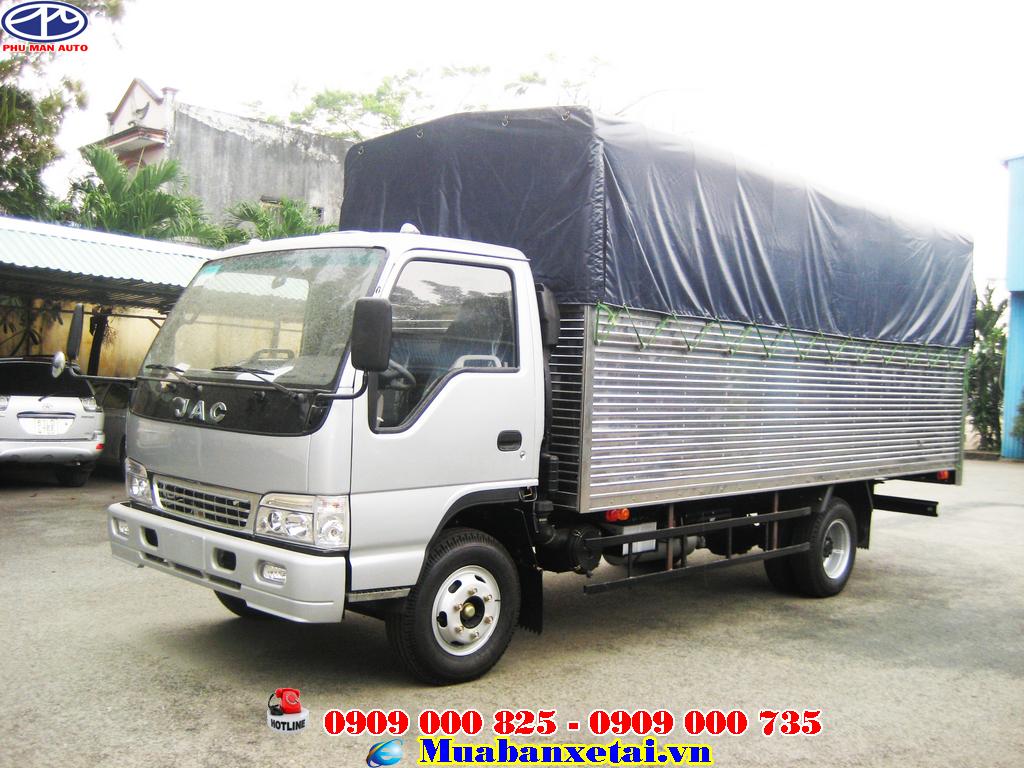 Xe tải Jac 6.4 tấn thùng mui bạt | Jac 6t4 thùng mui bạt