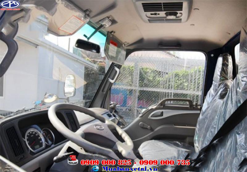 Nội thất xe tải Jac 6t4 thùng mui bạt