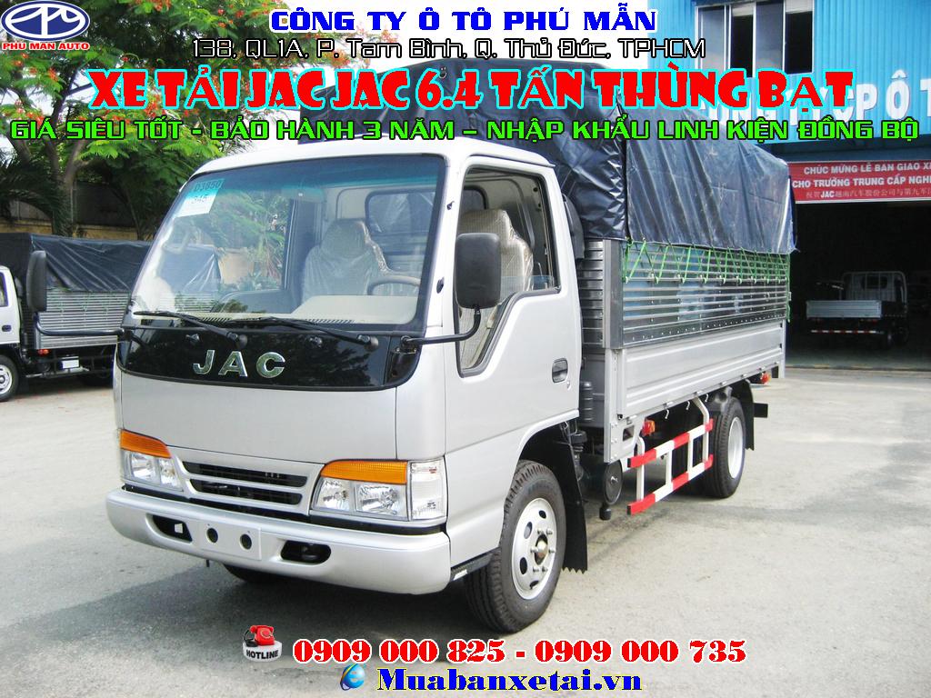 xe tải jac 6t4 thùng bạt