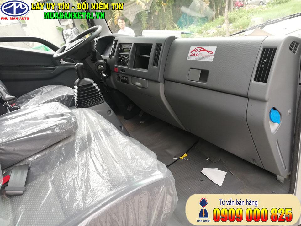 nội thất xe tải jac n650 6t5 thùng lửng