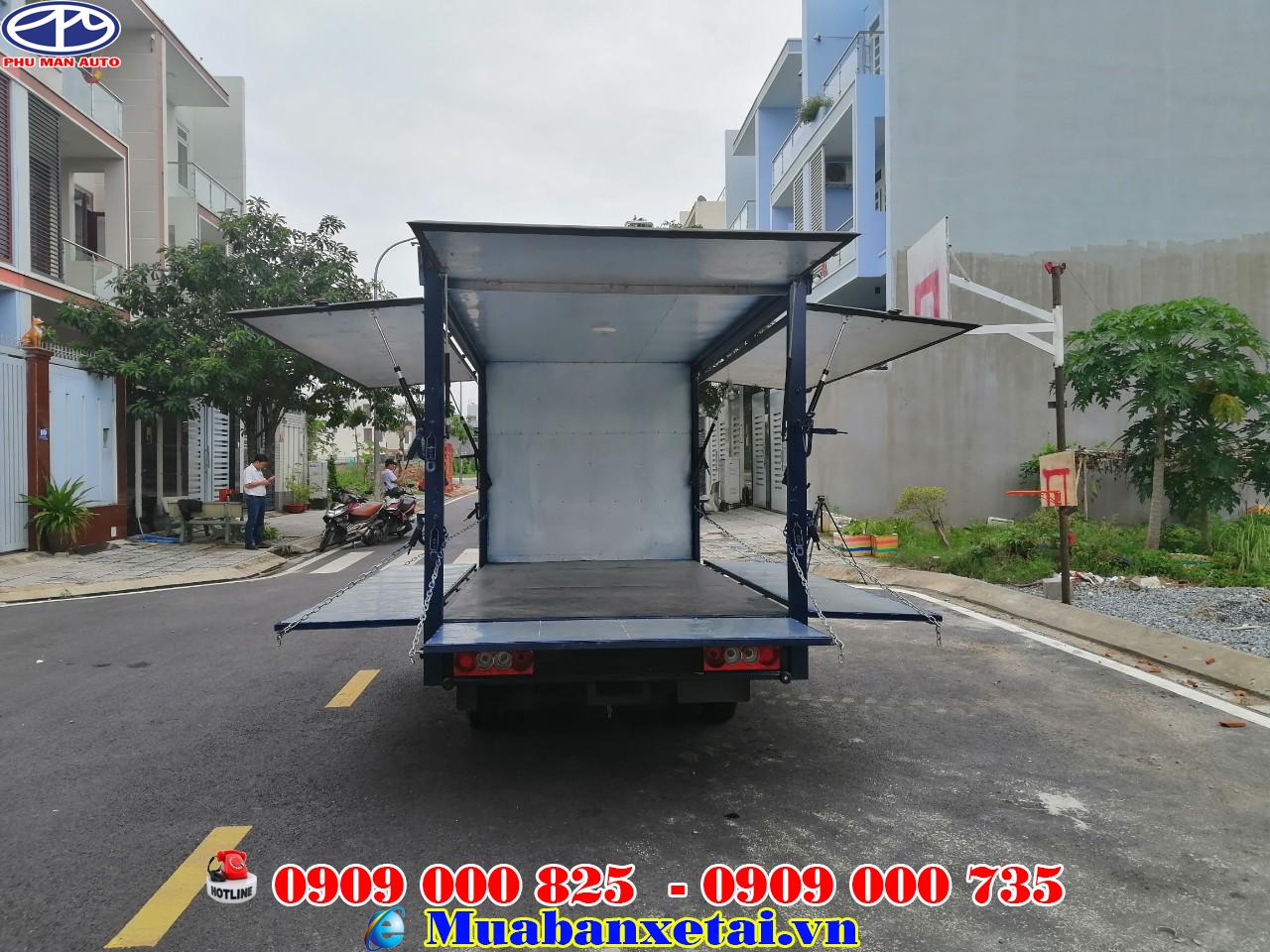 xe tải jac x5 thùng kín cánh dơi