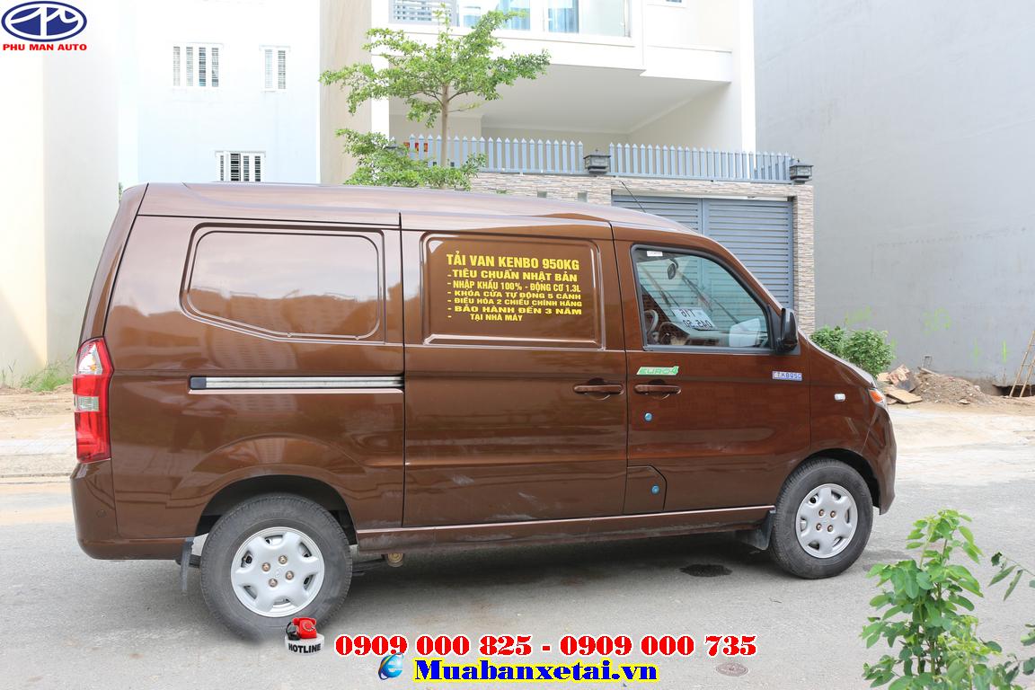 Góc đuôi xe tải kenbo 950kg