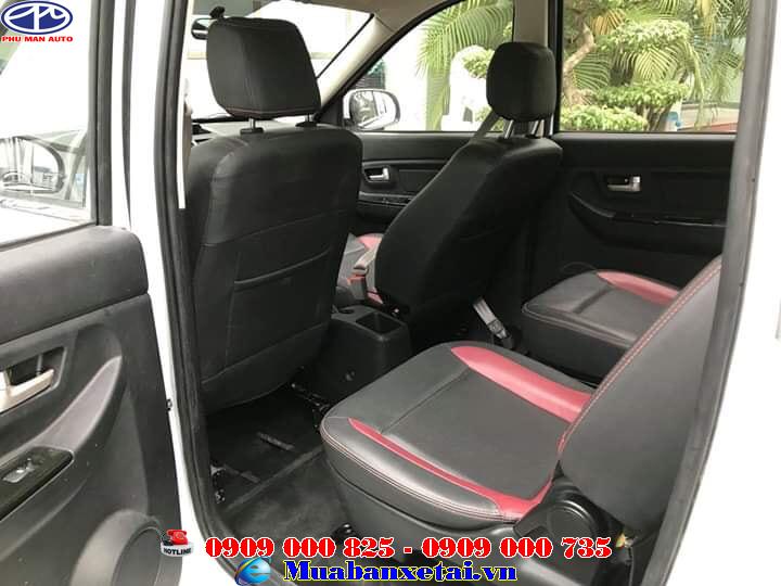 Nội thất xe tải kenbo 7 chổ nội thất khá ưu việt